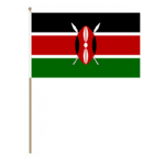 Kenya Country Hand Flag - Large.